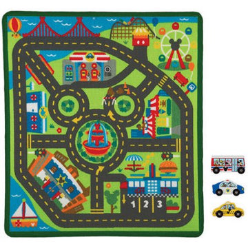 Melissa & Doug Disney Mickey Mouse City Activity Rug Set Various Sizes, Colors