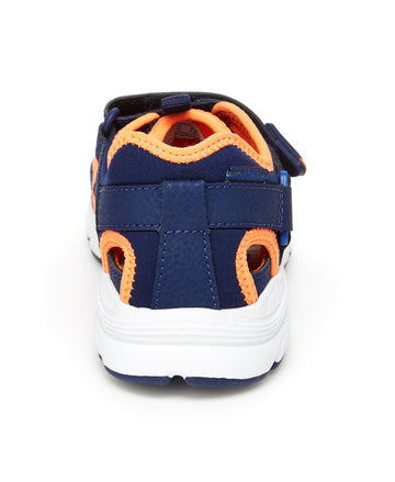 Stride Rite M2P Nesta (Little Kid) (Navy/Orange) Boys Shoes