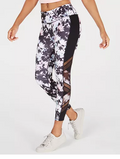 Ideology Printed Mesh-Trimmed Ankle Leggings, Various Sizes