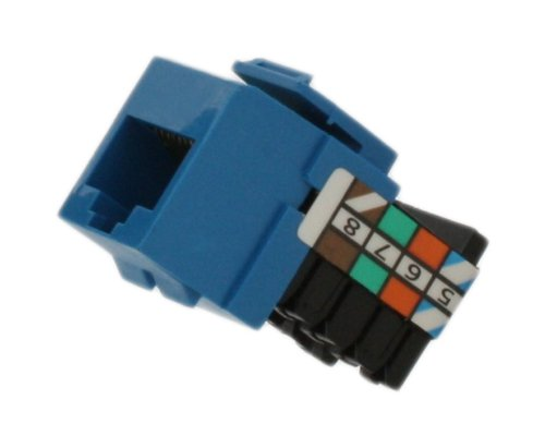 Leviton 41108-RL8 Voice Grade QuickPort Connector, Blue
