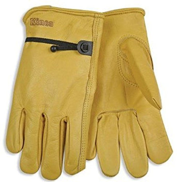 KINCO Unlined Cowhide Work Gloves Medium Construction Farm 1 Pair