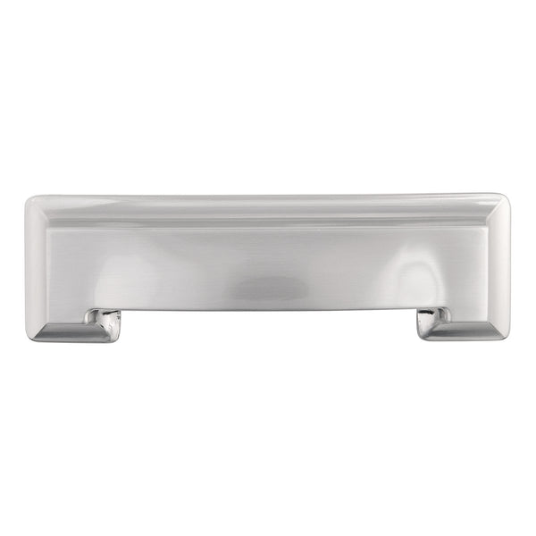 LOT OF 3 Hickory Hardware P3013-SN Studio Collection Cup Cabinet Pull, 3-Inch, Satin Nickel