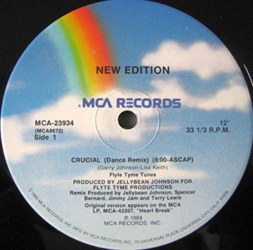 New Edition - Crucial - MCA Records - MCA