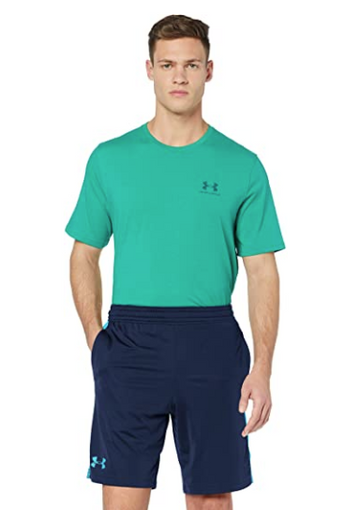 Under Armour MK1 Inset Fade Shorts, Academy//Ether Blue, X-Large