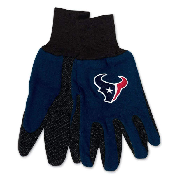 WinCraft NFL Houston Texans Two-Tone Gloves, 2-Pack, Blue/Black