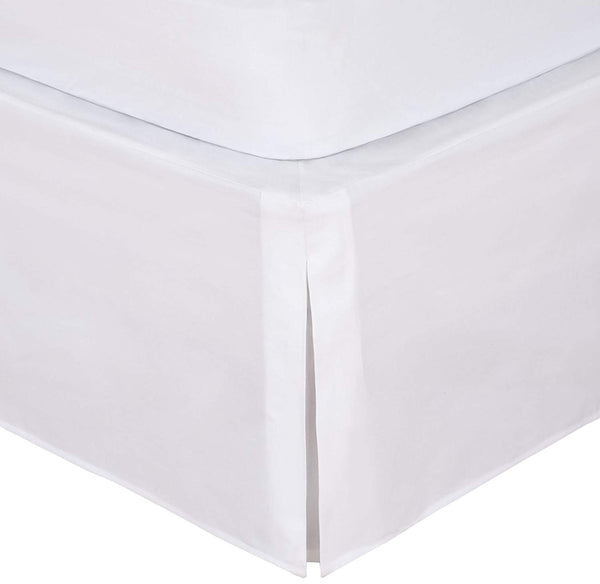 Magic  Bedskirt, Classic 14in drop length, Pleated Styling, Full, White