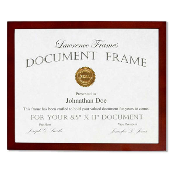 Lawrence Frames Walnut Wood Certificate Picture Frame, Gallery Collection, 8-1/2 by 11-Inch