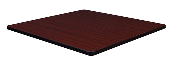 Regency 42in Square Laminate Table Top- Mahogany/Mocha Walnut