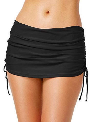 Island Escape Ruched Side Tie Hamptons Swim Skirt Bottom