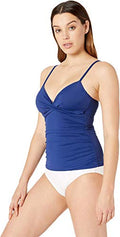 LAUREN RALPH LAUREN Womens Beach Club Solids Ruffle Underwire Tankini Top