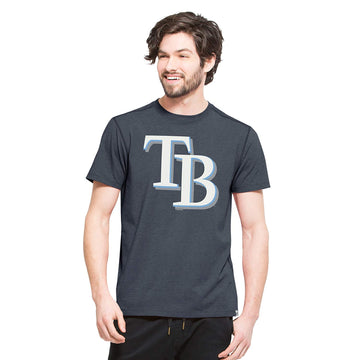 '47 MLB Tampa Bay Rays Men's High Point Tee, Small, Shift Navy