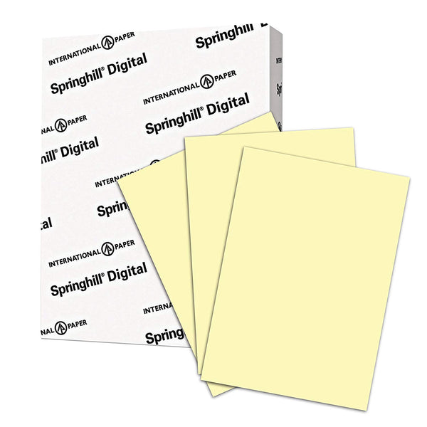 Springhill Colored Paper, Heavy Paper, Canary Paper, 24/60lb, 89gsm, Legal, 8.5 x 14, 1 Ream / 500 Sheets - Opaque, Thick Paper (024031R)