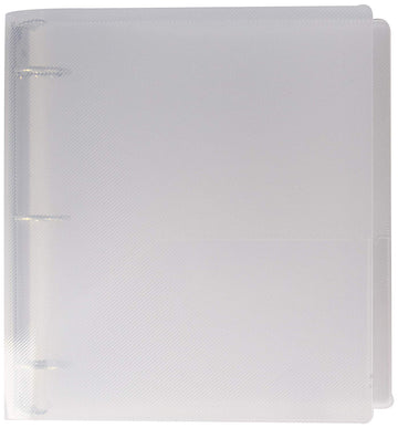 JAM Paper Plastic 1 inch Binder - Clear 3 Ring Binder - Sold Individually