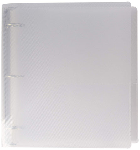JAM Paper Plastic 1.5 inch Binder - Clear 3 Ring Binder - Sold Individually