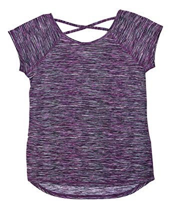 Ideology Criss Cross Back Space Dyed Athletic T-Shirt