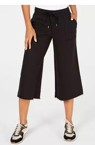 Ideology Cropped Wide-Leg Pants