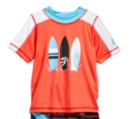 Laguna Little Boys Summer Stripe Swim Top.