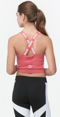 PUMA Womens Archive Crop Top, Size: Small, Color Spiced Coral