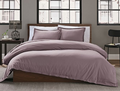 Garment Washed Solid Twin Duvet Cover Set in Lavender