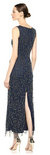 Pisarro Nights Womens Long Sleeveless Beaded Dress