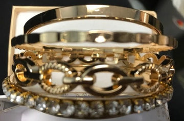 I.n.c. Gold-Tone Crystal Enhanced Multi-Bangle Bracelet, Created for Macys