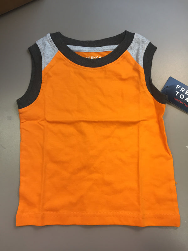 French Toast Boys' Muscle Tee, Colorblocked Autumn Glory, 12M