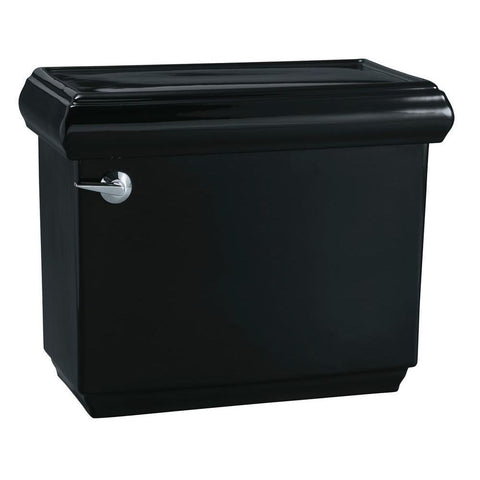 Memoirs 1.28 GPF Single Flush Toilet Tank Only with AquaPiston Flushing Technology in Black