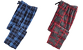 Perry Ellis Mens Large-Plaid Fleece Pajama Pants, Choose Sz/Color