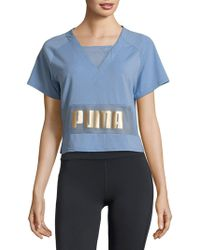 Puma Exposed Tee Allure Blue Size Small