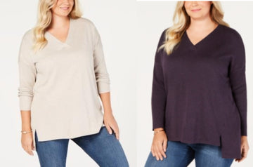 Style and Co Plus Size High-low Over-sized Tunic Sweater Various Sizes, Colors