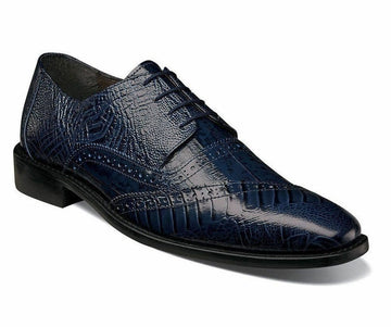 Stacy Adams Men's Garzon Oxford, Blue, 8.5 M US