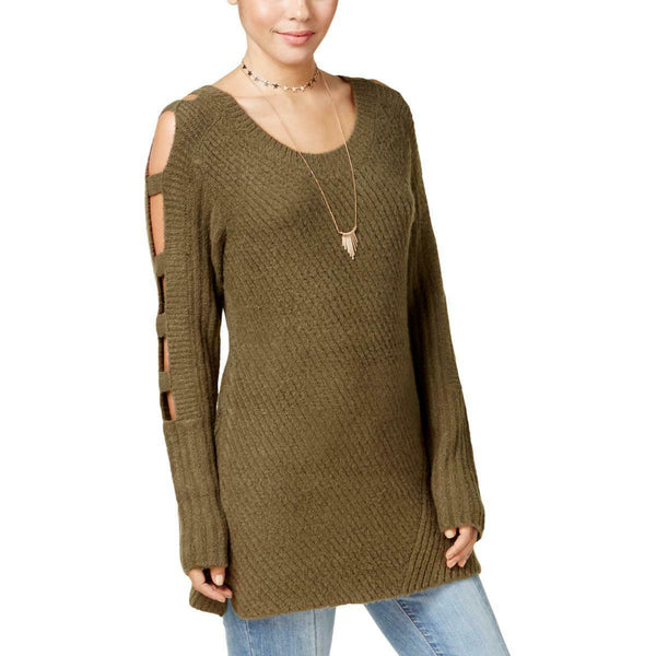 Crave Fame by Almost Famous Juniorsft Ladder-Sleeve Sweater (Soft Olive, XL $44