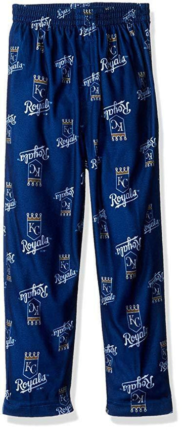 MLB Boys 4-7 Royals Sleepwear All Over Print Pant, Various Sizes