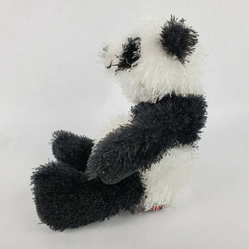 Ganz Webkinz Panda Bear 7 Plush Black White Stuffed Animal Toy Fuzzy NO CODE