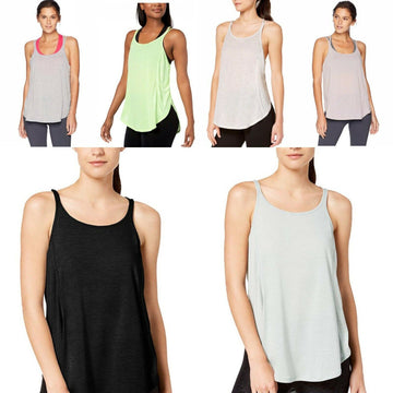 Calvin Klein Racerback Split Hem Performance Athletic Tank Top