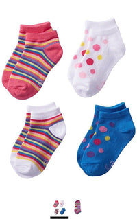 Hanes Girls 4 Pack Classics Low Cut Liner Socks Assorted Shoe Sz M-10/4