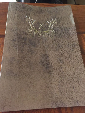 Monogram X Notebook Paperback