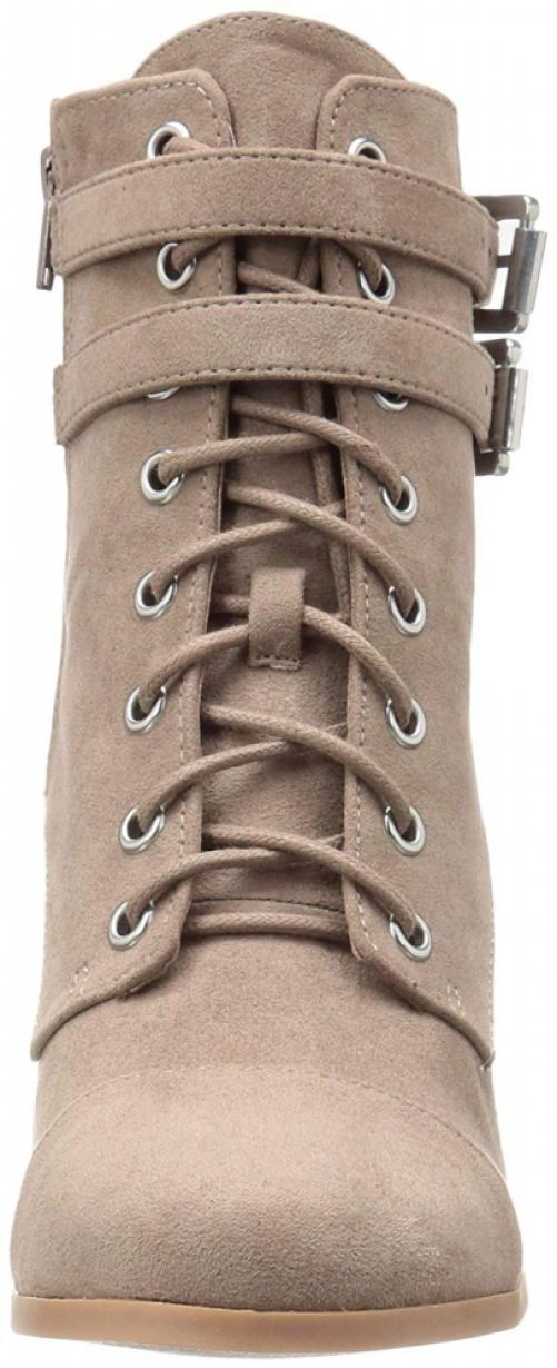 Madden Girl Women's Klaim Ankle Bootie, Taupe Fabric, 10 M US