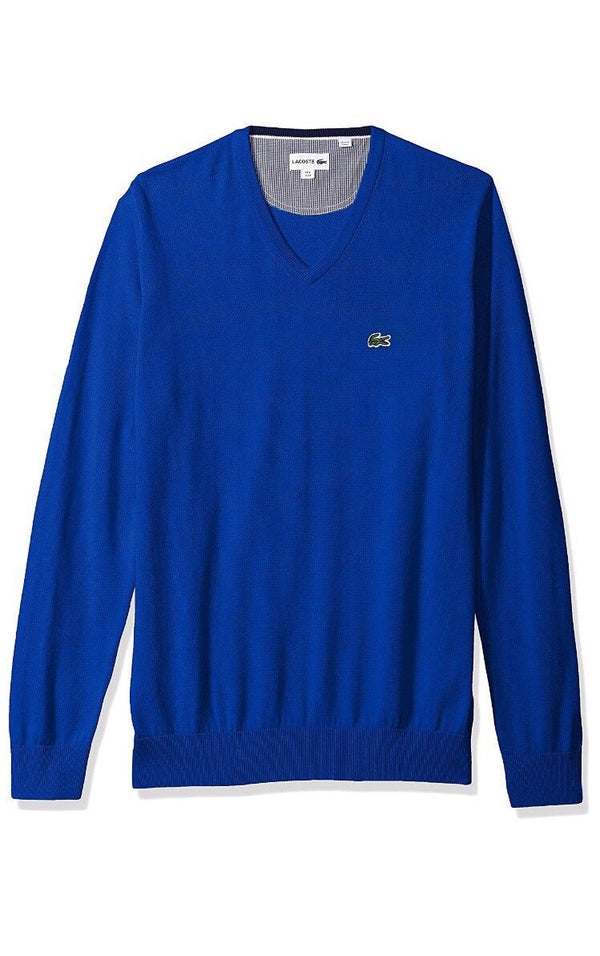 Lacoste Men's V Neck Cotton Jersey Sweater XL/Various Colors