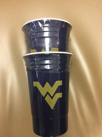 NCAA West Virginia Mountaineers Party Cup Tailgate Set, 16-ounce, Blue Sports