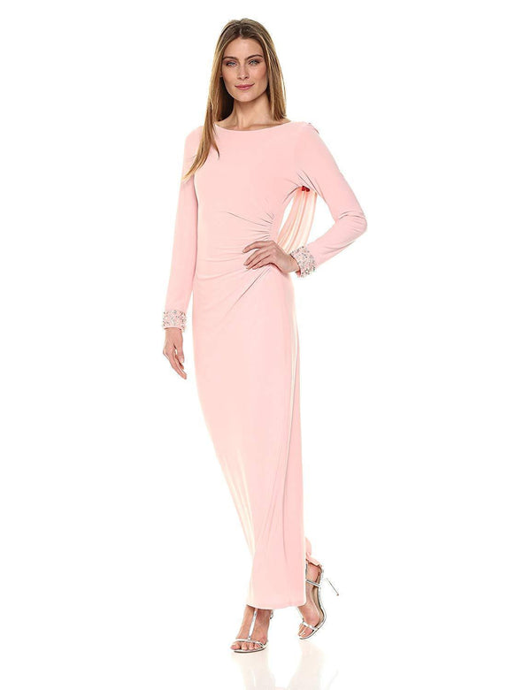 Marina Women's Cowl Back Jersey Gown, Blush, 6