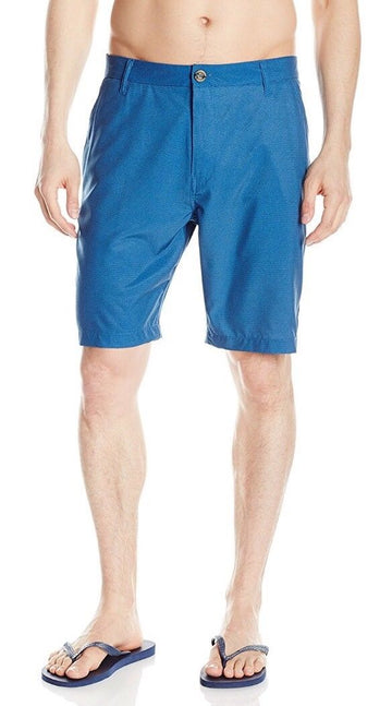 Free Country Mens Hybrid Swim Trunk, Nautilus Blue, XL
