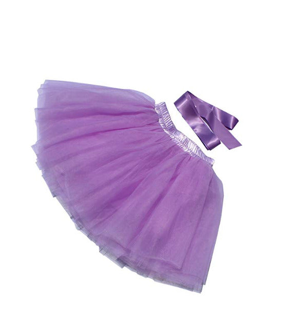 Little Girl Tutu Skirt A Line 7 Layers Tulle Princess Tutu (3T), M, Lavender