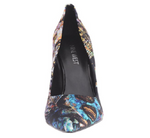 Nine West Women's Flax Fabric, Black/Multi 8 M US
