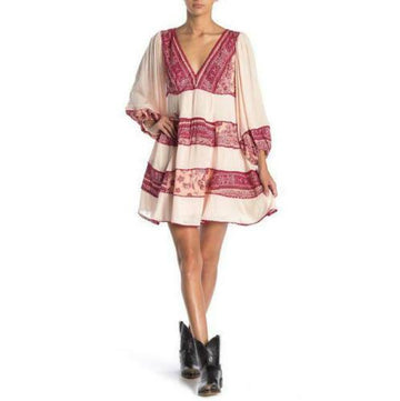 Free People My Love Printed and Textured Mini Dress, Various Sizes