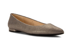 Nine West Women's Onlee Mtl Ballet Flat, Grey/Pewter 8 M US
