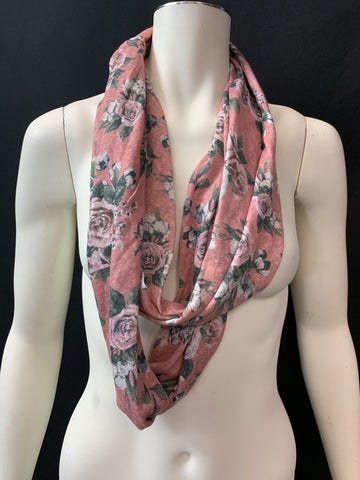 Women Floral Design Lightweight Soft Infinity Scarf.