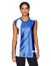 Intensity Womens Wave Sleeveless Softball Top, Royal/White, X-Large