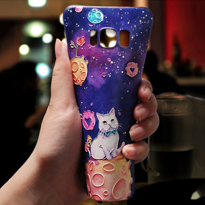 3D Emboss Cute Cases For Samsung Note 9 8 Soft TPU Cover