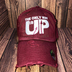 Distressed OnlyWayIsUp Hats